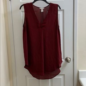 Maroon H&M Polyester Top